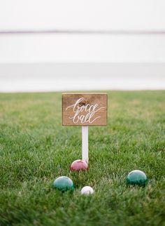 Bocce ball sign  Photo by Rebecca Yale