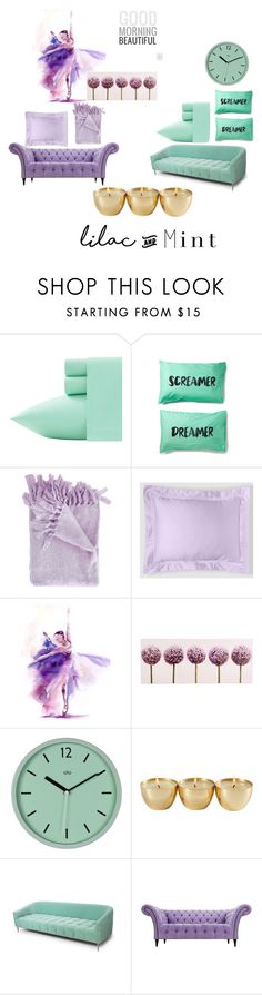 """Fresh Mint & Lilac #colorchallenge #lilacandmint"" by shani-abiona ❤ liked on Polyvore featuring interior, interiors, interior design, home, home decor, interior decorating, Laura Ashley, Matouk, Graham & Brown and Mint Velvet"