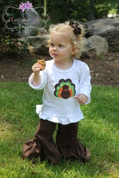 Turkey Ruffle Tee by TheLavenderLily on Etsy, $22.00