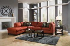 Bright RED sofa!