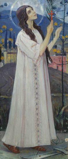 Нестеров М.. Великомученица Варвара. Сер. 1890-х