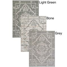 Stunningly crafted for your interior decor, this beautiful Catherine Medallion Area Rug updates your home. Made of olefin for durability, this rug features an intricate oriental pattern available in bone, grey or green.