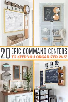 These family command center ideas are so inspirational! Great DIY project inspiration for family command center ideas to keep you organized. I think number three is the best command center ever! Command Center Kitchen, Family Command Center, Command Centers, Kitchen Message Center, Family Message Center, Cute Dorm Rooms, Cool Rooms, Cheap Home Decor, Diy Home Decor