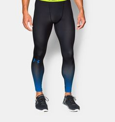Men's UA HeatGear® Armour Branded Compression Leggings Mens Compression Pants, Workout Attire, Workout Gear, Athletic Fashion, Athletic Style, Gym Style, Mens Activewear, Sport Outfits, Gym Outfits