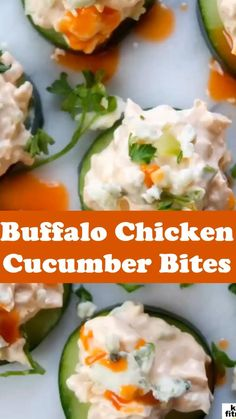 Healthy Snacks For Diabetics, Keto Snacks, Healthy Tips, Buffalo Chicken Recipes, Keto Chicken, Appetizer Recipes, Appetizers, Cucumber Bites, Eat Fat