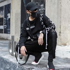 2018 New Fashion Streetwear Joggers Men Black Harem Pants Multi-pocket Hip Hop Mens Sweatpants Jogger Pants Men - Men Fashion Style Hipster, Style Casual, Swag Style, Men Casual, Style Men, Casual Wear, Men's Style, Indie Style, Smart Casual