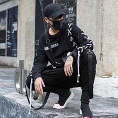 2018 New Fashion Streetwear Joggers Men Black Harem Pants Multi-pocket Hip Hop Mens Sweatpants Jogger Pants Men - Men Fashion Swag Style, Style Hip Hop, Style Casual, Men Casual, Style Men, Casual Wear, Men's Style, Style Streetwear, Streetwear Shoes