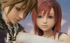 Sora and Kairi- Kingdom hearts 2