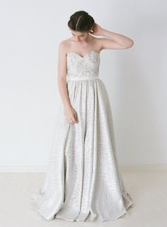 Shannon // A Hand Beaded Gown With a Unique Silver by Truvelle