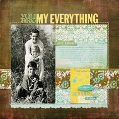 A lovely layout from the talented Kelly Goree