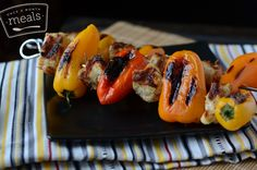 Freezer Meal Recipes for the Grill - Rosemary Parmesan Chicken and Sweet Peppers