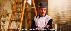 Glee Quote (About lonely gifs dessert cure cake)