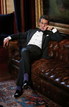 Sharply tailored Ralph Lauren Purple Label suits are perfect for the season's formal affairs