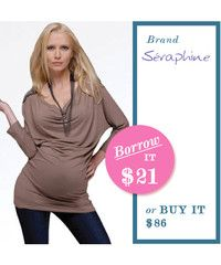 maternity top that doubles as a tunic. hugs all the right places and has cute shoulder detail for an edgy look.