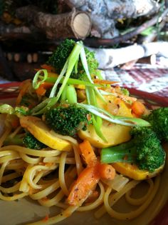 Roasted garlic red pepper pasta. Body Ecology