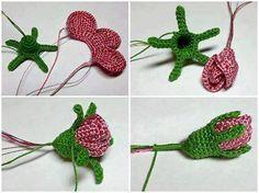Watch The Video Splendid Crochet a Puff Flower Ideas. Wonderful Crochet a Puff Flower Ideas. Crochet Puff Flower, Crochet Flower Tutorial, Crochet Leaves, Crochet Motifs, Knitted Flowers, Crochet Flower Patterns, Tunisian Crochet, Irish Crochet, Crochet Designs