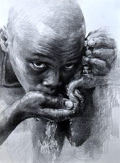 Pencil Drawing - artist Hoehwarang, South Korea
