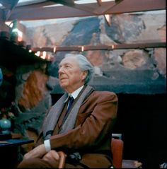 """A Candid Conversation with Frank Lloyd Wright, Frank Lloyd Wright by JOHN AMARANTIDES, 1955. """"The Frank Lloyd Wright Foundation Archives (The Museum of Modern Art 