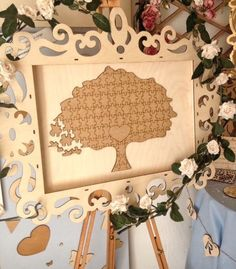 A personal favourite from my Etsy shop https://www.etsy.com/uk/listing/278084892/wedding-puzzle-guestbook-puzzle-tree