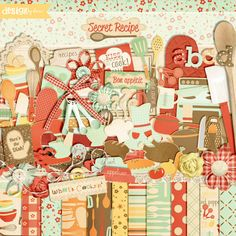 What's cooking?! This kit has everything but the kitchen sink! Warm colors, delectable illustrations and tasty embellishments will make this the kit you reach for again and again!
