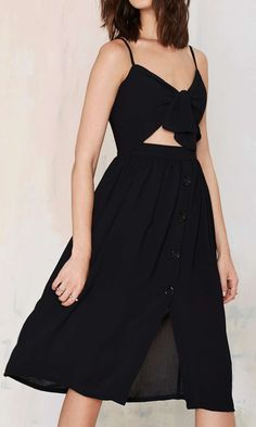 cute cut out crop black midi dress