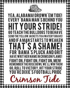 Hit your Stride! Roll Tide!