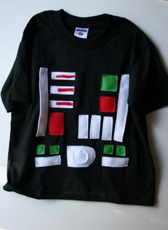 DYI Darth Vader top for an easy kids' dress up party costume