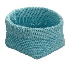 Okrągły koszyk Malia, niebieski