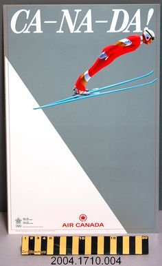 1988 Calgary Winter #Olympics promotional poster produced by Air Canada - Ski Jump