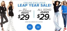 Today only $29. jeans and pants
