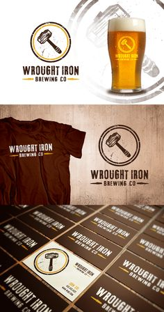 Logo design for Wrought Iron Brewing Co. by brandsformed™ #POTD99 06.02.2013 #Canada  #blacksmith