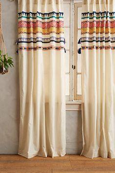 Tasseled Mera Curtain - anthropologie.com