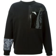 Christopher Kane floral lace sweatshirt ($765) ❤ liked on Polyvore