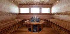 Lämpökäsitelty haapa luo lämpimiä sävyjä saunaan