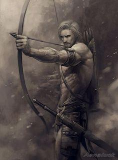 Image result for fantasy male warrior archer blonde