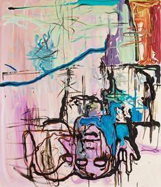 Bjarne Melgaard (Norwegian, b. 1967), Untitled, 2001. Canvas, 140 x 121 cm