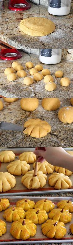 Pumpkin Bread Rolls with Cinnamon Butter ~ Easy International Recipes