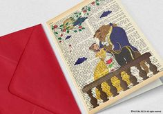 The beauty and the beast greeting card-4x6 in by naturapicta