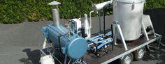 Distillateurs mobiles autonomes sur remorque ou sur camion.