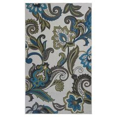 Kas Rugs Duel Gardens Ivory 5 ft. x 8 ft. Area Rug-SEF29105X8 - The Home Depot