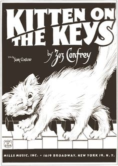 ♪ Kitten On The Keys ♪ - there really is a song by that title!