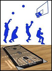 1000 images about basketball bedroom on pinterest for Basketball court mural