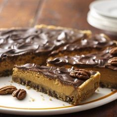 Chocolate-Peanut Butter Cookie Pie with a delicious cookie dough crust is perfect for potlucks!