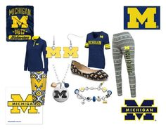 """Michigan Wolverines"" by life-is-too-short-to-wait on Polyvore featuring FANMATS, WinCraft, Signature, The Northwest Company, The Bradford Exchange, Fiora and Campus Heritage"
