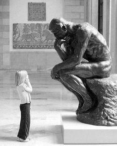 """leggerezza-dell-essere:  """"_______ Rodin , Il pensatore*  """""""