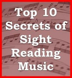Top 10 Facts About Learning How to Sight Read Music Notes and Rhythms   Learn How to Read Music at the One Minute Music Lesson with Leon Harrell