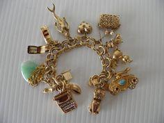 chunky gold charm bracelet - Google Search
