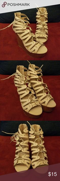 PAZZLE NUDE WEDGES PAZZLE NUDE WEDGES SIZE 8 NEW NEVER WORN PAZZLE Shoes Wedges