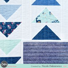 One of our talented quilters, Nicole, has created a darling baby quilt with a classic quilting shape: Flying Geese! Celebrate a new life, and let your creativity take flight with this beautiful baby quilt!