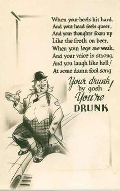 Your Drunk By Gosh Comic Vintage Postcard Risque Milwaukee L.L. Cook Co